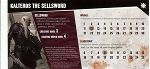 Dungeon Command: Sting of Lolth: Kalteros The Sellsword Card